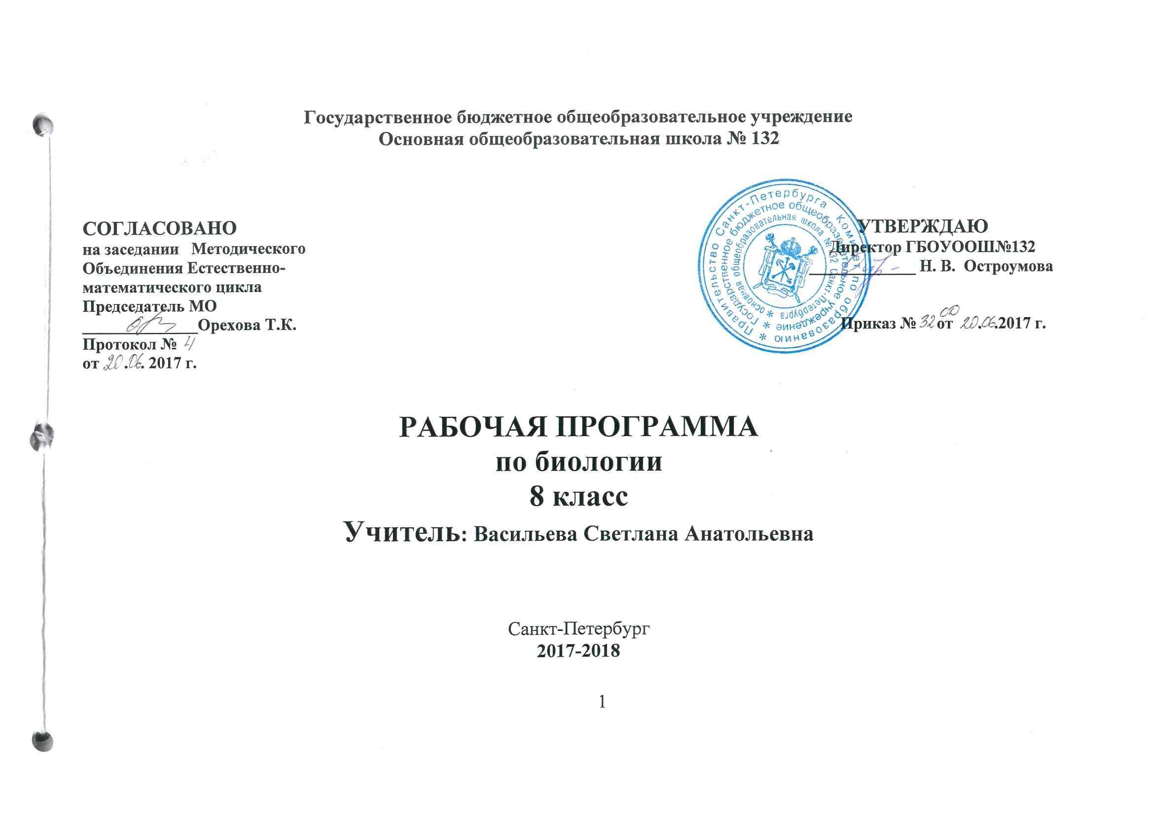 Программа по русскому языку 8 класс васильева